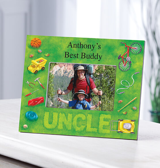 Personalized Lawn Words Uncle Frame
