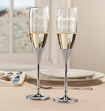 Wedding Essentials - Personalized Brilliance Toasting Flute Set