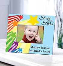 Gifts for Kids - Personalized Shoot For The Stars Frame Horizontal