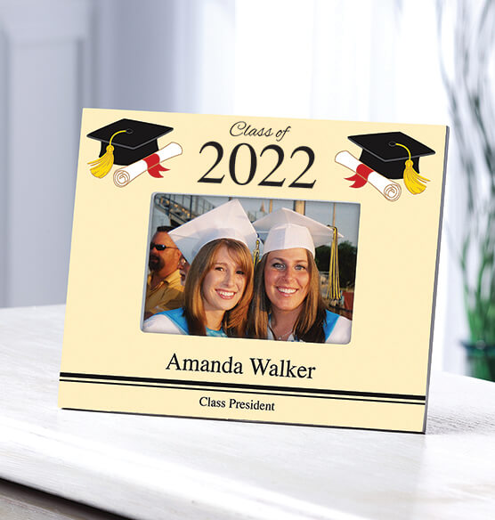 Personalized 2019 Graduation Photo Frame – Cap & Scroll