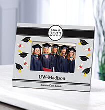 Graduation - Personalized Tossed Scroll 2019 Graduation Photo Frame