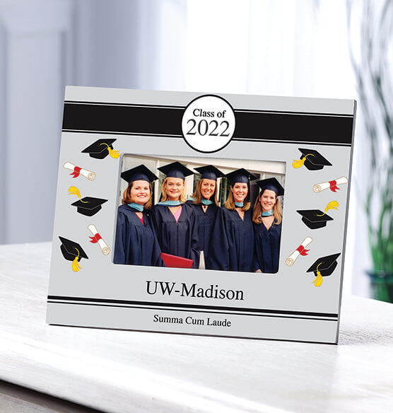 Personalized Tossed Scroll 2019 Graduation Photo Frame