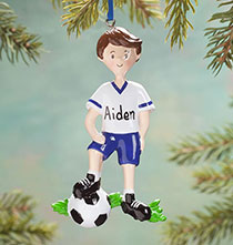 Personalized Soccer Player Ornament