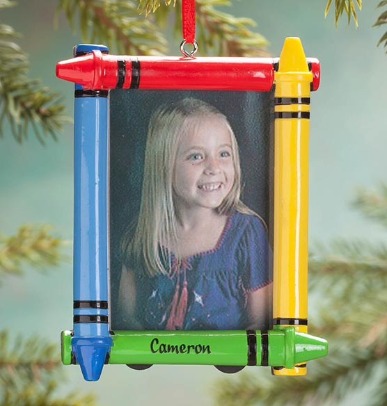 Personalized Crayon Frame Ornament - View 1