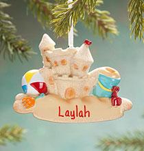 Personalized Sandcastle Ornament