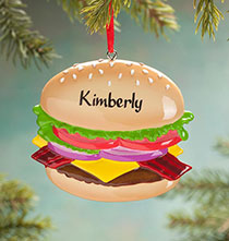 Personalized Cheeseburger Ornament
