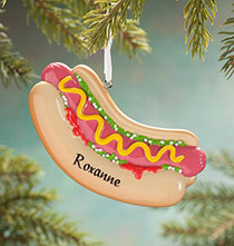 Personalized Hot Dog Ornament