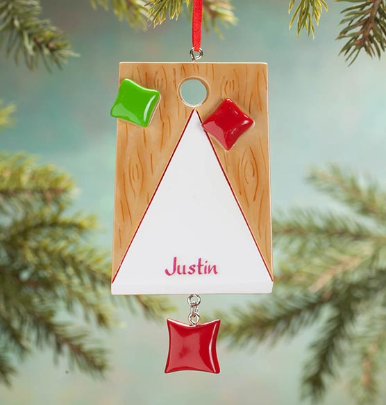 Personalized Bean Bag Ornament