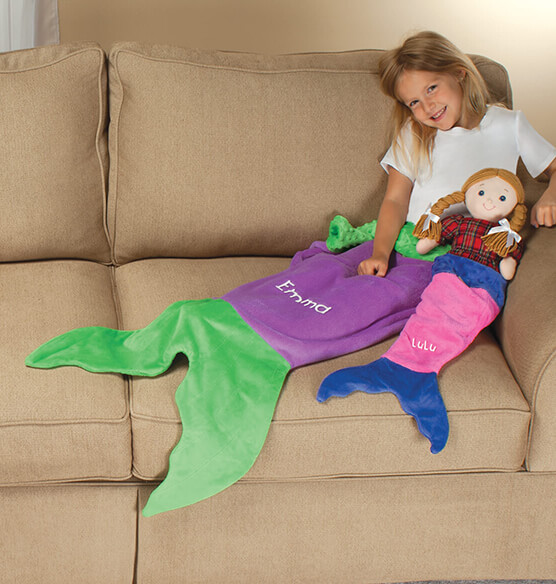 Blankie Tails™ Kids Purple Mermaid Tail