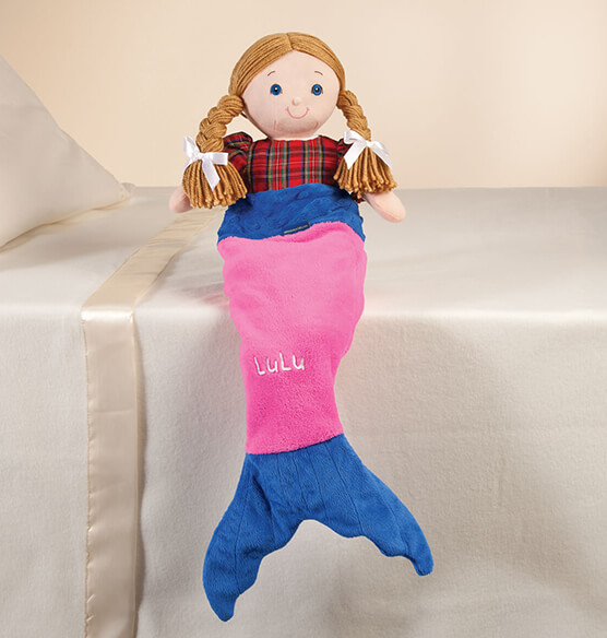 "Blankie Tails™ 18"" Doll Pink Mermaid Tail"