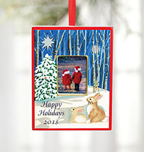 Holiday Ornaments - Personalized Woodland Ornament