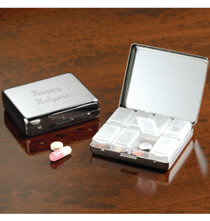 Accessories for Her - Personalized Metallic Pill Box 8 Day