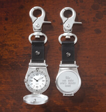 Remembrance Gifts - Personalized Clip on Pocket Watch