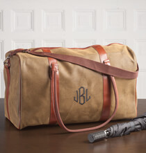 Accessories for Him - Personalized Leather Duffle Bag
