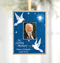 Holiday Ornaments - Personalized Dove Memorial Ornament