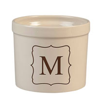 Personalized Tabletop - Personalized Monogram Crock, 3 qt.