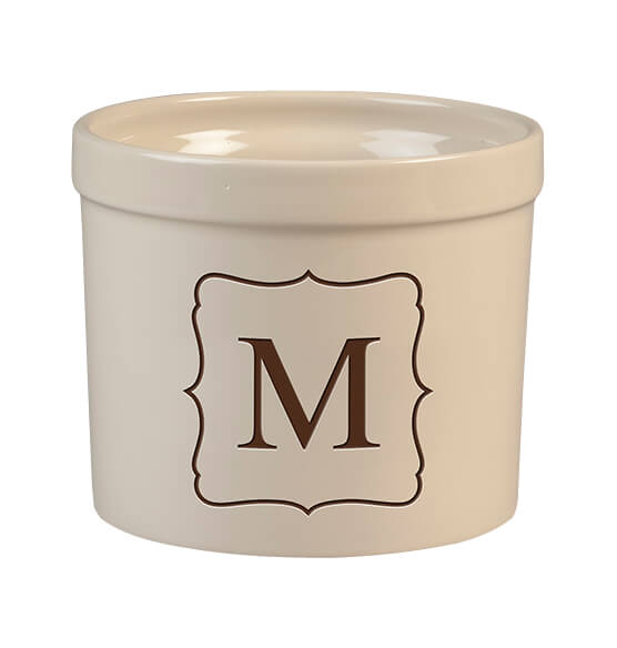 Personalized Monogram Crock, 3 qt.