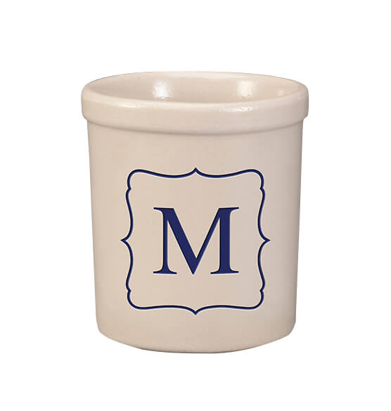 Personalized Monogram Crock, 1 qt. - View 1