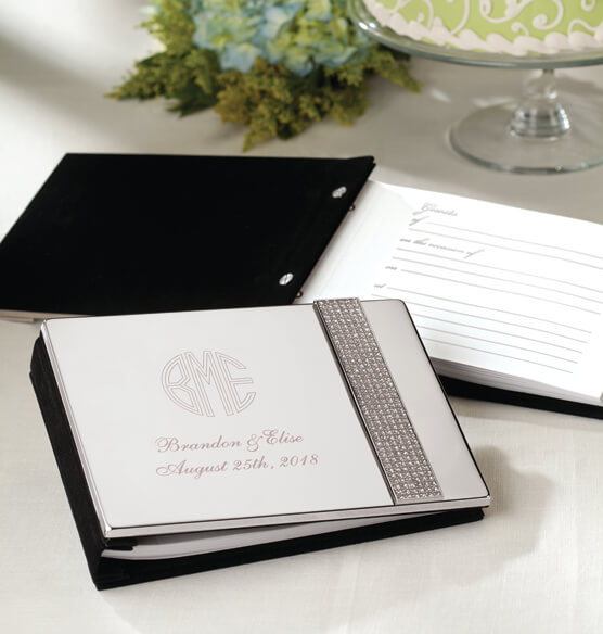 Personalized Brilliance Guest Book Keepsake