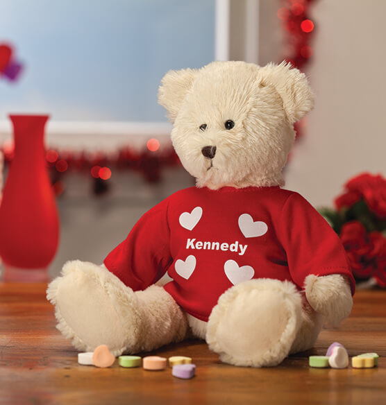 Personalized Valentine's Day Bear - View 1
