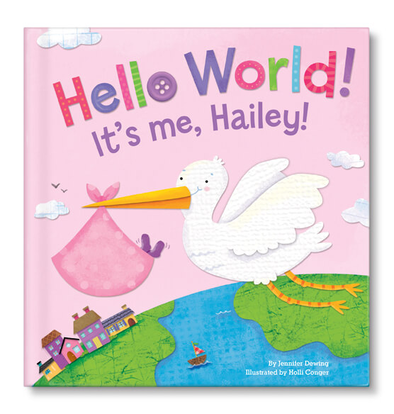 Personalized Hello World! for girls Storybook