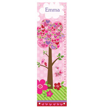 Gifts for Kids - Love Is In The Air Personalized Growth Chart