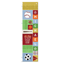 Room Décor - Kick, Score, Run Personalized Growth Chart