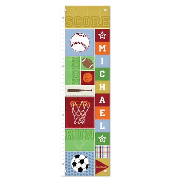 Kick, Score, Run Personalized Growth Chart