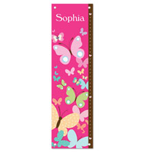 Room Décor - All A Flutter Butterflies Personalized Growth Chart