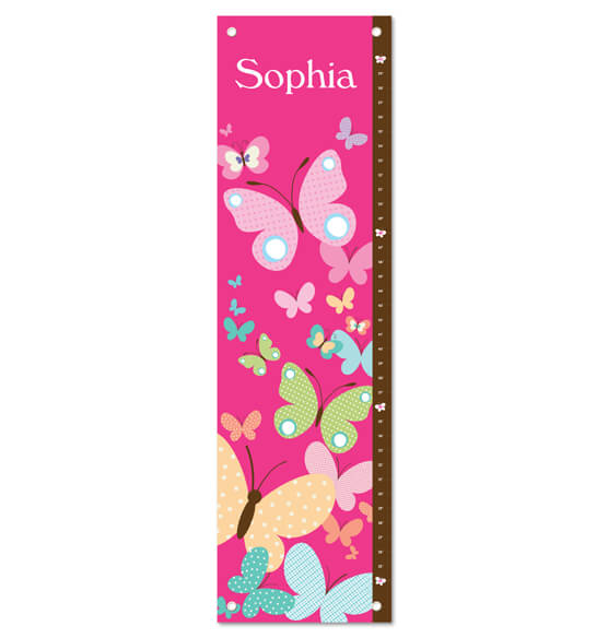 All A Flutter Butterflies Personalized Growth Chart