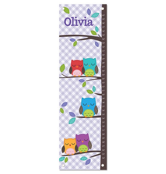 Gingham Owl Personalized Growth Chart