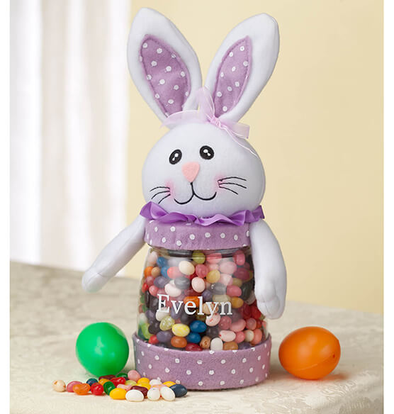 Personalized Easter Bunny Treat Jar