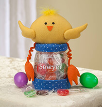 Easter - Personalized Easter Chick Treat Jar