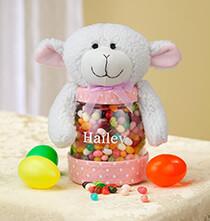 Easter - Personalized Easter Lamb Treat Jar
