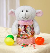 Personalized Easter Lamb Treat Jar