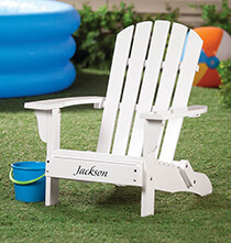 Personalized Children's Adirondack Chair   Personalize Black