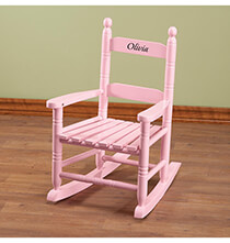 Room Décor - Personalized Pink Children's Rocker