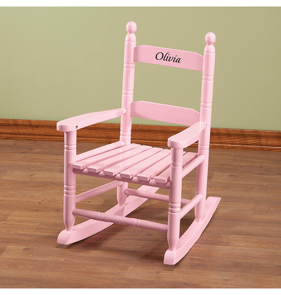 Personalized Pink Children's Rocker - View 1