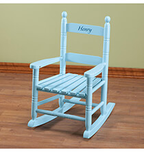 Easter - Personalized Blue Children's Rocker