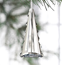 Holiday Ornaments - Personalized Crystal Tree Ornament