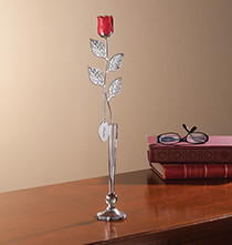 Valentine's Day - Personalized Silver Plated Red Rose