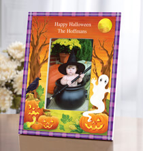 Room Décor - Personalized Haunted Harvest Halloween Photo Frame
