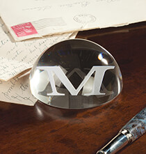 Desktop & Office - Personalized Optic Paperweight