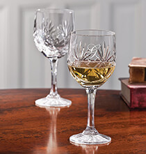 Gifts for Grandparents - Personalized European Crystal Wine Glass set of 2