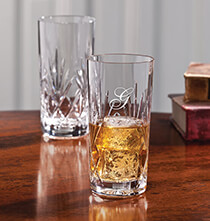 Gifts for Grandparents - Personalized European Crystal Hi-Ball Glass set of 4 14oz