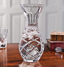 Valentine's Day - Personalized Crystal Carafe Vase