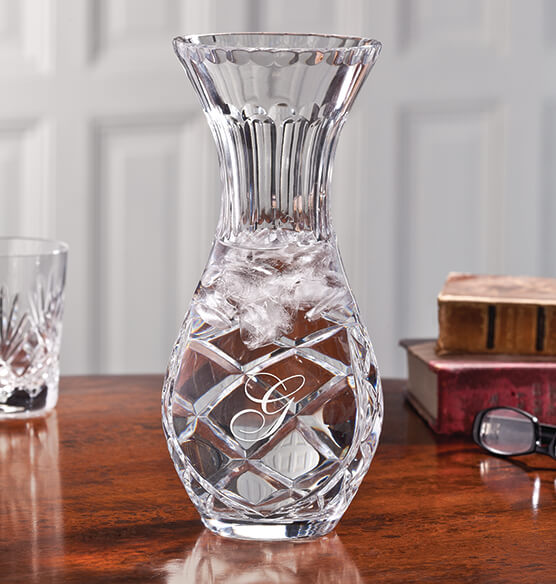 Personalized Crystal Carafe Vase