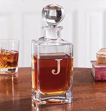 Gifts for Grandparents - Personalized Square Glass Decanter