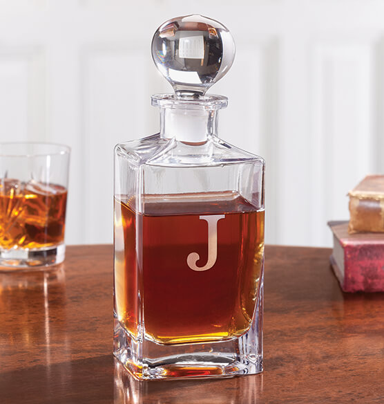 Personalized Square Glass Decanter - View 1