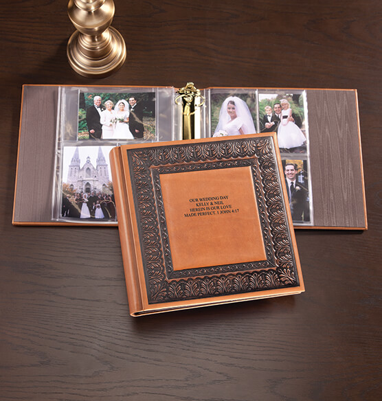 Personalized Bellini Antique Style Leather Photo Album